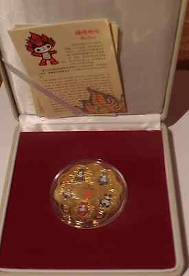 2008 China Beijing Summer Olympic Games Mascot Gold Coin Commemorative Medallion