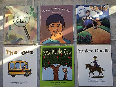 LOT of 6 Toddler Youth Children's Picture Books 7-8 pages By Waterford Institute