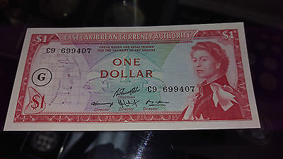 East Caribbean Currency Authority 1965 $1 ....unc....nice Condish