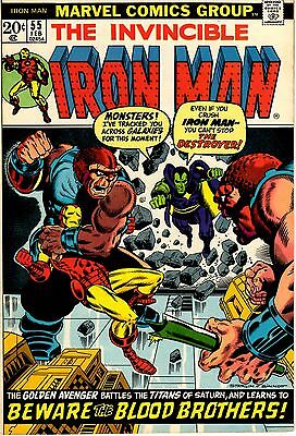 Invincible Iron Man # 55 VF Marvel Comic Book 1st Drax & Thanos Appearances YY1