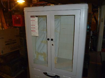 Vintage Hamilton Steel and Glass Medical Cabinet
