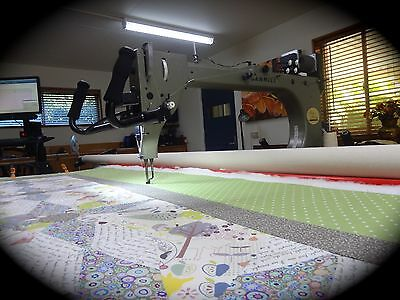 GAMMILL LONGARM QUILTING MACHINE-QUILTING SERVICE-COT or LAP  QUILT