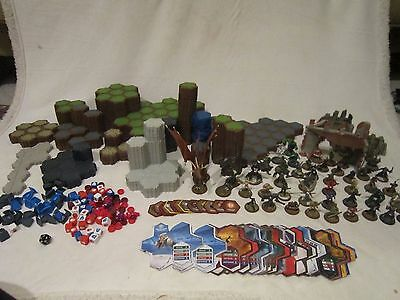 Huge Heroscape Lot Over 300+ Pieces 45 Figures Terrain Hex Etc