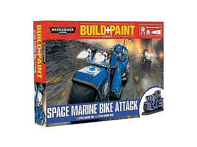 Revell GmbH Warhammer 40,000 Space Marine Bike Attack Build and Paint Set