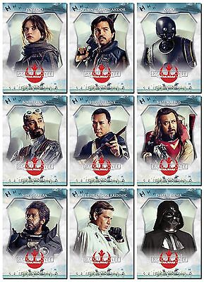 NEW - ROGUE ONE A STAR WARS STORY PROMO 10 Card Character Profile Set - Vader