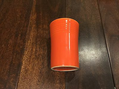 """Radioactive Red Fiesta Ware 3.5"""" Juice Tumbler Glass Excellent Condition - Rare"""