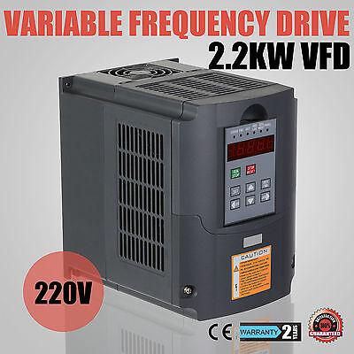 New Variable Speed Drive Vsd Drive Inverter 2.2Kw 3Hp Vfd 10A 220V Single Phase