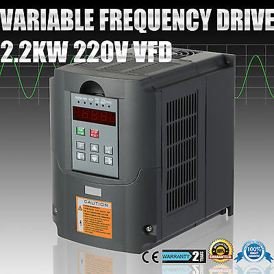 New 2.2KW 220-250V 3HP 10A Variable Frequency Drive Inverter VFD Speed Control