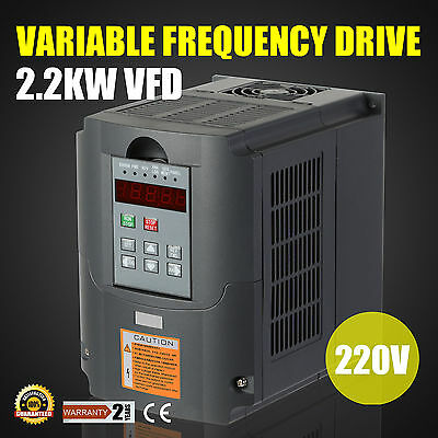 2.2KW 220V 3HP 10A VFD Variable Frequency Drive Inverter Speed Control 3 Phase