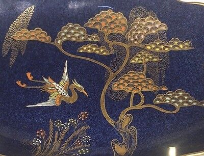 """Carlton ware """"Heron and Magical Tree"""" pattern tray with Egyptian style handle"""