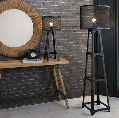 Industrial Floor Lamp Vintage Retro Style Tall Metal Light Large Antique Shade