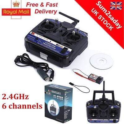2.4G 6CH Transmitter Receiver Remote Control for RC Car Boat Tank Toy Gift