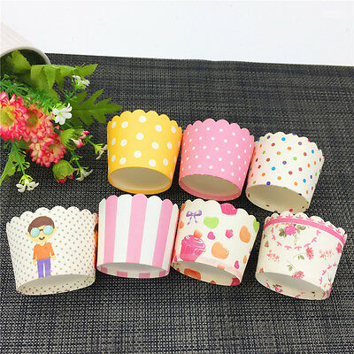New 50x Cupcake Cups flag Chocolate Liners Baking Cupcake Cases Muffin Cake Cups