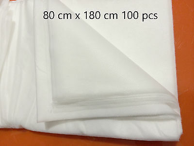 DISPOSABLE BEAUTY BED MASSAGE TABLE COVER SHEET Therapy Waxing Sheets 100Pcs