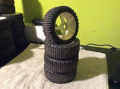 Rc 1/8th Buggy Wheels And Medial Pro Tyres X4 For Expert Drivers Nitro Electric