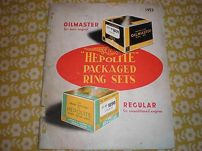 Hepolite Catalogue - Packaged Ring Sets 1952.