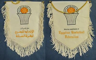 EGYPT BASKETBALL FEDERATION OFFICIAL BIG PENNANT 27x22cm OLD