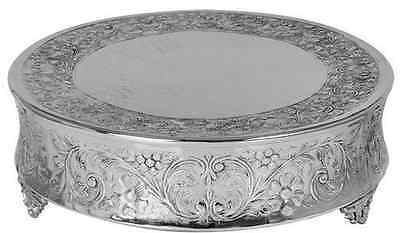 New Nickel Plated Silver Colour Cake Stand Round 18Inch 45Cm D