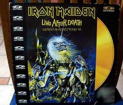 IRON MAIDEN  LIVE AFTER DEAD  video cd PAL PolyGram Music Video – 080 508-1