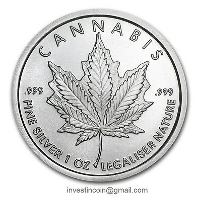 1oz American CANNABIS Round/Coin 1 Try Ounce .999 Silver round