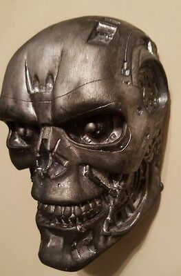 Terminator 2 head skull Movie Collectable Judgement Day Gift cyborg WALL HANGER