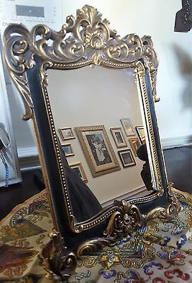 Victorian Ornate Mirror Vintage Dressing Table Bedroom French Gold Baroque