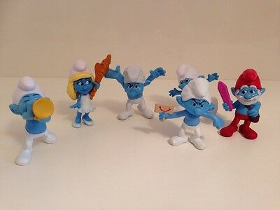 The Smurfs Characters, Toy Figures / Plastic Cake Topper Bundle
