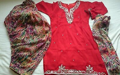 Fancy Dress Bollywood Salwar Kameez Indian Girls Party 6-7 years with bells
