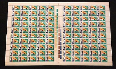 Full Sheet 100 Australian MNH PNG Independence 18c Stamps