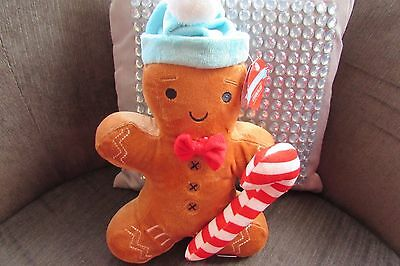 Card Factory Gingerbread Man Plush 12 inches with Candy Cane new with tags