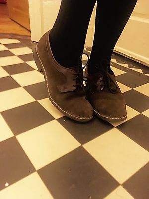 Vintage Rockabilly Suede Leather Shoes 1940s Women's  Size 4 Swing Dancers In A