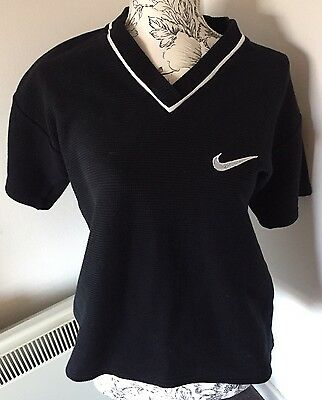 Ladies Retro Vintage 90's NIKE Cropped Style Short Sleeve Top Approx. UK 10/12