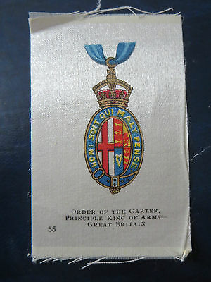 """Imperial Tobacco/cigarette Silks 1913  """"orders/military Medals""""  #55  Great Brit"""