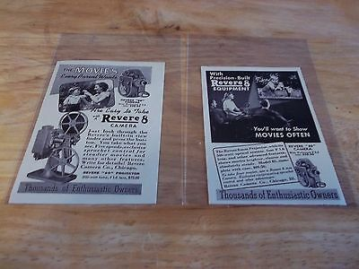 vintage print ad, 1942, Riviere Camera Company lot of 2