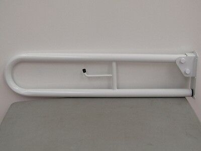 New Roca Fold Away Trombone Hinged Safety/disability Support Rail.white 800Mm