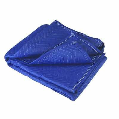 """(1) 72"""" x 80"""" MOVER'S BLANKET (Blue poly cotton) Padded Quilted furniture moving"""