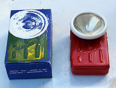 Vintage old flashlight light with a box from Bulgaria
