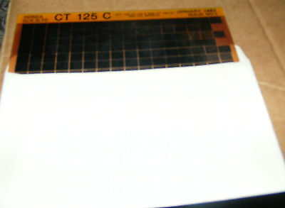 Honda Ct125C Part List Manual    (Microfiche)   Free Post In Uk Only