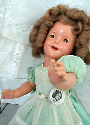 """Shirley Temple Ideal VTG Composition 1930's Doll- a Stunner at 18"""""""