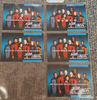 5 x Star Trek The Next Generation Trading Cards 01A - 01E By Impel 1992 MINT #49