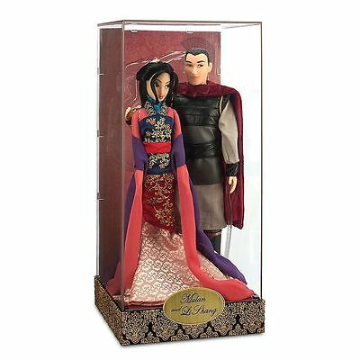 Disney Store MULAN & LI SHANG Doll Fairytale Designer Couple Limited Edition NEW
