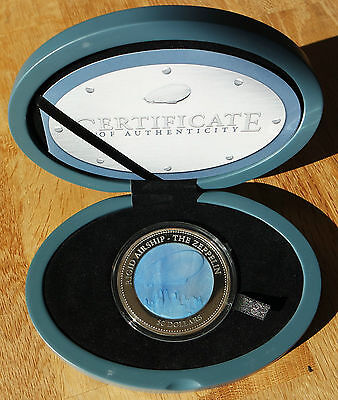 5oz Silber Cook Island 2013, Mother of Pearl Zeppelin, proof