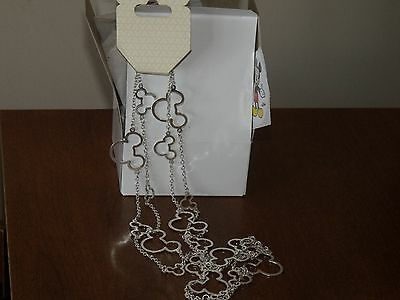 Disney Mickey Head Layer Necklace- With Box, Paper & Sticker