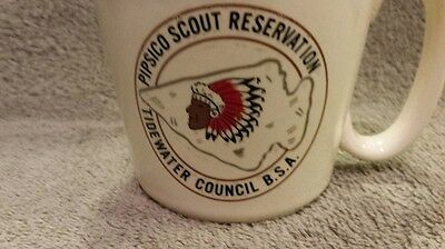 Boy Scout Mug cup Pipsico Scout Reservation Tidewater Council Arrow head