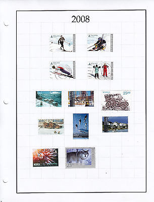 NORWAY; year 2008 used mix lot (0060)