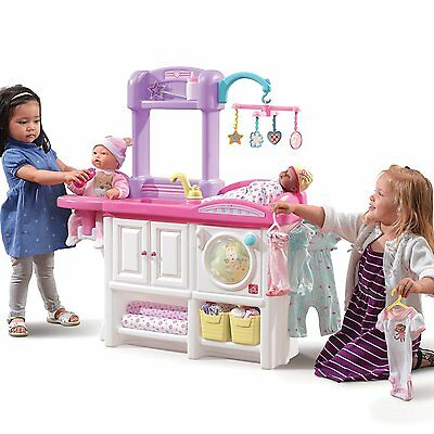Deluxe Nursery Doll Furniture Play Set Baby Kids Change Table Wash Feed Toy New
