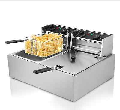 Commercial Dual Tank 20L 5000W deep fryer kitchen maker Electric Deep Fryer