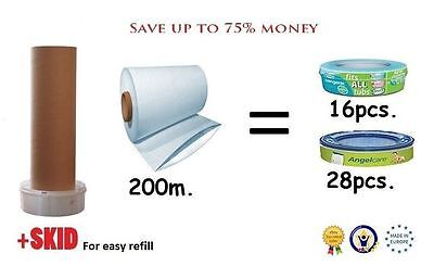 Refill sacks folie for Sangenic / Angelcare cassettes 200m.(4X50m.) + SKID