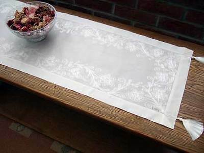 BN  Table Runner Cream Embroidered 50 x 130 cm RRP £19