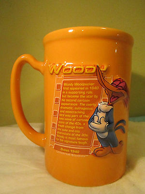 Walter Lantz    Woody Woodpecker Mug  w Cartoon Info   5x3.5""